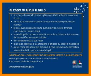 Maltempo – Allerta neve della Protezione Civile per la Calabria