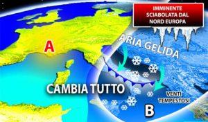 """Arriva la """"Sciabolata"""" gelida dalla Russia. Previsti in Calabria vento e neve"""