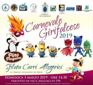 """Domenica 3 Marzo il """"Carnevale Girifalcese"""""""