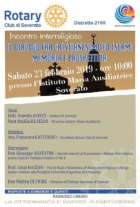 Soverato, Rotary Club e dialogo interreligioso tra Cristianesimo e Islam
