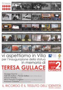 Cittanova celebra Teresa Gullace: sabato 2 febbraio l'inaugurazione del monumento alla Villa comunale