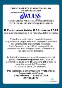 Il 19 marzo riparte il corso per volontari dell'Avulss
