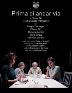 """Teatro del Grillo di Soverato – Domenica 17 Marzo in scena """"Prima di andar via"""""""