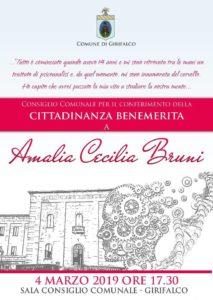 Girifalco – Conferita la cittadinanza benemerita alla scienziata Amalia Bruni