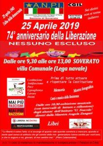 """L'ANPI festeggia la """"Festa della Liberazione"""" nella villa comunale di Soverato"""