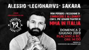 """Stage di MMA (Arti Marziali Miste) con il più grande fighter del settore Alessio """"Legionarivs"""" Sakara"""