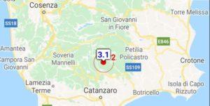 Nuova scossa di terremoto questa sera nel catanzarese