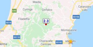 Scossa di terremoto a Palermiti