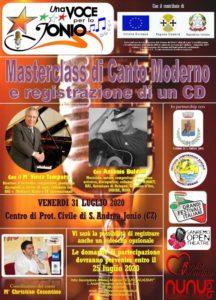 A S. Andrea Jonio una Masterclass di canto moderno e registrazione di un CD