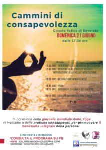 """Domenica 21 Giugno a Soverato """"Cammini di consapevolezza"""""""