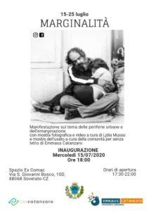 Dal 15 al 25 luglio a Soverato una mostra sulla marginalità e sulle periferie del mondo