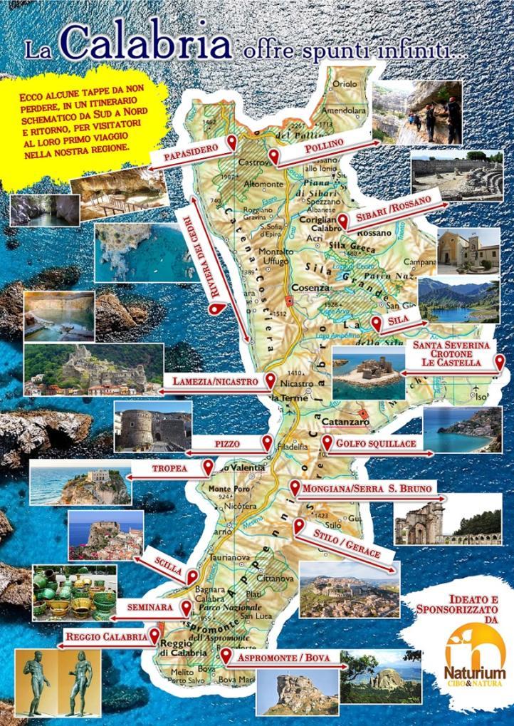 Cartina Calabria Immagini.Montepaone L Omaggio Di Naturium Alla Calabria Mappa In Regalo Ai Turisti Soverato Web
