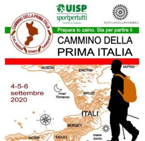 L'istmo di Catanzaro vedrà il cammino della Prima Italia il 4, 5 e 6 settembre 2020