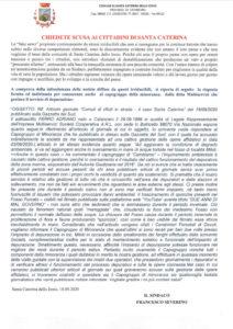 """""""Ecco la lettera della ditta che attua il lavoro di manutenzione sul depuratore di Santa Caterina dello Jonio"""""""