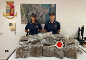 Trovati 20 chili di marijuana in un canale di scolo, sequestrata