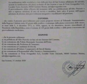 Caso Covid-19 nel comune di San Sostene, chiuse le scuole