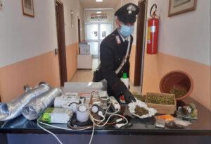 Detenzione di marijuana, ricettazione e furto energia elettrica: 23enne arrestato