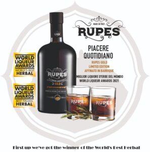 L'Amaro Rupes riconosciuto come il Miglior Liquore al Mondo alla World Liqueur Awards 2021