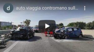 Video shock: auto viaggia contromano sulla Statale 16, due morti e un ferito