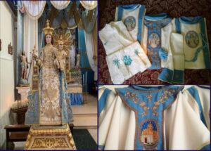 In allestimento a Filogaso i paramenti liturgici per la Madonna del Carmelo