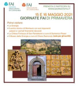 """Il 15 e 16 maggio """"Giornate Fai di Primavera"""" alla Grangia di Sant'Anna e a Montauro"""