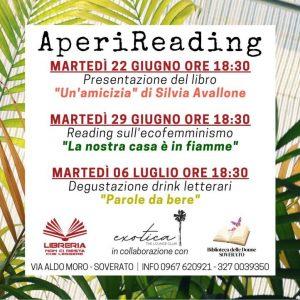 Aperireading: gli aperitivi letterari all'Exotica – The Lounge Club – Soverato