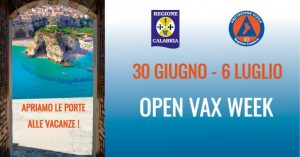 In Calabria l'Open Vax Week
