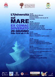 A Soverato l'Università è sul mare. Martedì 29 giugno musiche di Francesca Prestia, letture, brevi lezioni e presentazioni di libri