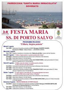 Soverato – Programma religioso Festa SS Maria di Porto Salvo