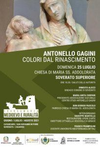 """Domenico 25 luglio a Soverato l'incontro """"Antonello Gagini Colori dal Rinascimento"""""""