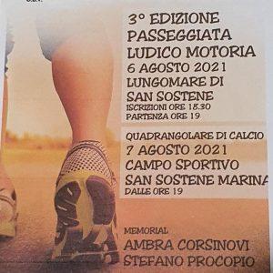 """A San Sostene raccolta fondi con la """"Terza Passeggiata Ludico Motoria"""""""