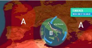 Estate in pausa nel week-end, crollo termico e forti temporali anche in Calabria