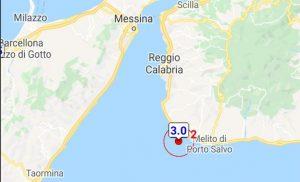 Scossa di terremoto nella notte sulla costa calabrese meridionale