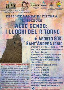 """A Sant'Andrea Jonio la Terza Edizione dell'Estemporanea di Pittura """"Aldo Genco: I Luoghi del Ritorno"""""""