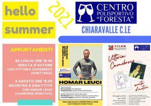 """Chiaravalle, al """"Foresta"""" due incontri culturali con Camobreco e Leuci"""
