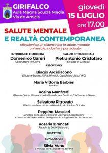 La senatrice Silvia Vono oggi a Girifalco per un incontro sulla salute mentale