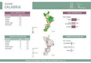 Persi in Calabria 86 ettari nel 2020, lo dice il Rapporto SNPA sul consumo di suolo