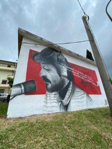 A Girifalco un murales raffigurante Peppino Impastato