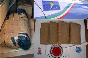 Due corrieri della droga sull'A2 arrestati dalla Polizia, sequestrati 60 chili di cocaina