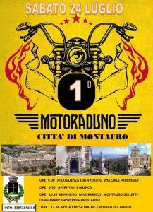 Sabato 24 luglio il primo Motoraduno Città di Montauro