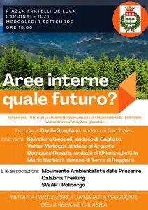 Cardinale, aree interne: forum-dibattito con sindaci e associazioni