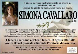 Tragedia di Satriano, lunedì a Soverato i funerali di Simona