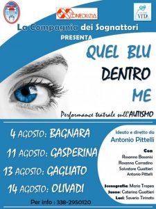"""Lo spettacolo """"Quel blu dentro di me"""" in scena a Gasperina, Gagliato e Olivadi"""