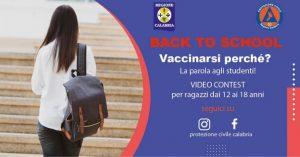 La Protezione Civile Calabria lancia un video contest per sensibilizzare la vaccinazione nella fascia 12-18 anni