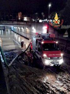 Nubifragio nel soveratese, oltre 50 gli interventi dei vigili del fuoco