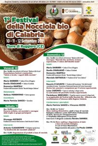 Torre di Ruggiero, al via il 1° Festival della Nocciola Bio di Calabria