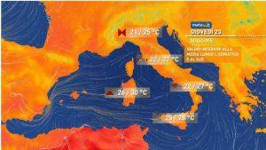 Meteo, da giovedì 23 settembre rialzo termico e clima estivo in Calabria