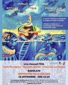 Badolato Summer Theatre '21, il 15 settembre grande festa conclusiva con il trio di Fabio Macagnino