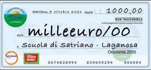 Domani la consegna di 1000 euro alla scuola di Satriano