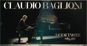 """""""Dodici note solo"""", Claudio Baglioni in concerto a Reggio Calabria, Catanzaro e Cosenza"""